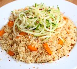 Courgettie, Chilli Quinoa and Orange Pepper